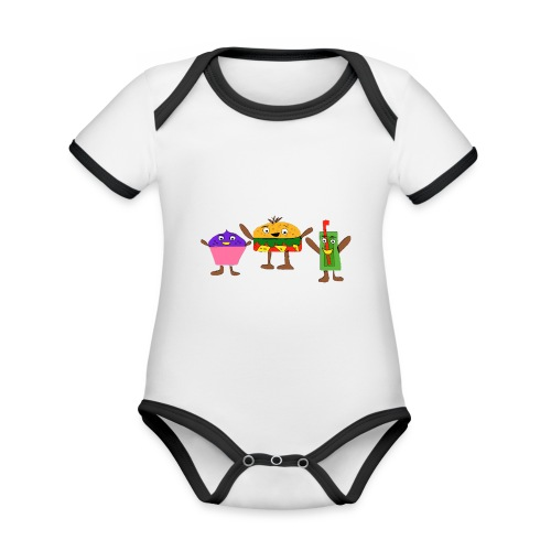Fast food figures - Organic Baby Contrasting Bodysuit