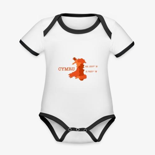 Cymru - Latitude / Longitude - Organic Baby Contrasting Bodysuit