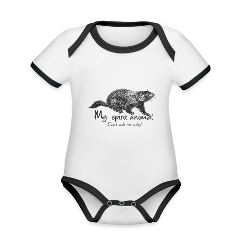 The marmot is my totem animal - Organic Baby Contrasting Bodysuit