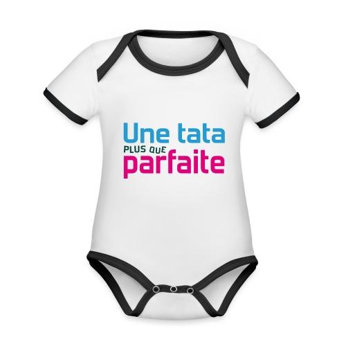 Tata plus que parfaite - Body Bébé bio contrasté manches courtes
