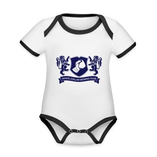 White Collar Boxing Hoodie Classic-Blue - Baby Bio-Kurzarm-Kontrastbody