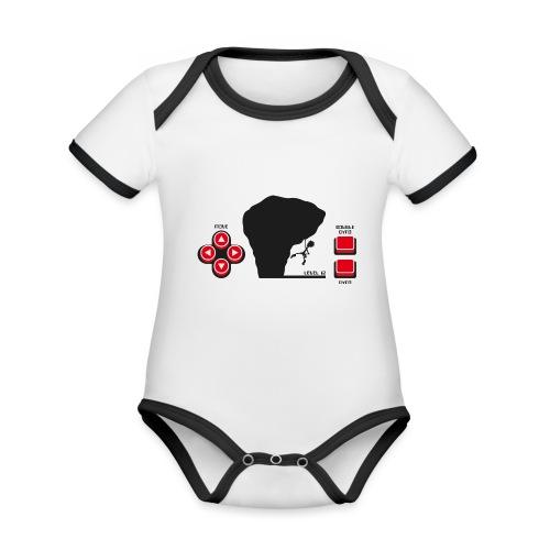 Climber Telespiel - Baby Bio-Kurzarm-Kontrastbody