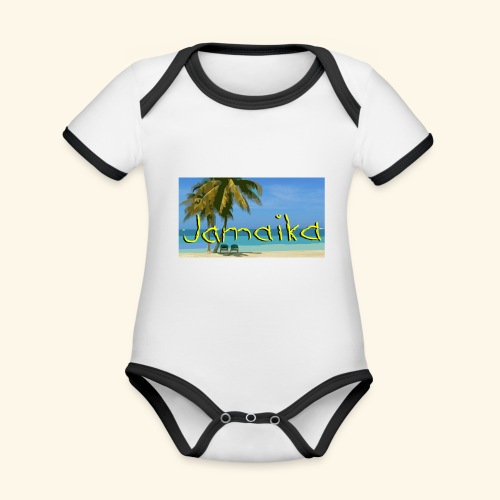 JAMAIKA - Baby Bio-Kurzarm-Kontrastbody