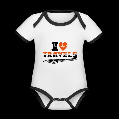i love travels surprises 2 col - Organic Baby Contrasting Bodysuit