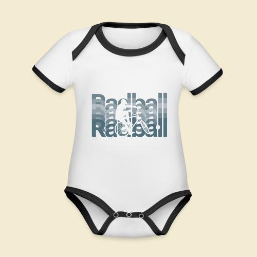 Radball | Typo Art - Baby Bio-Kurzarm-Kontrastbody