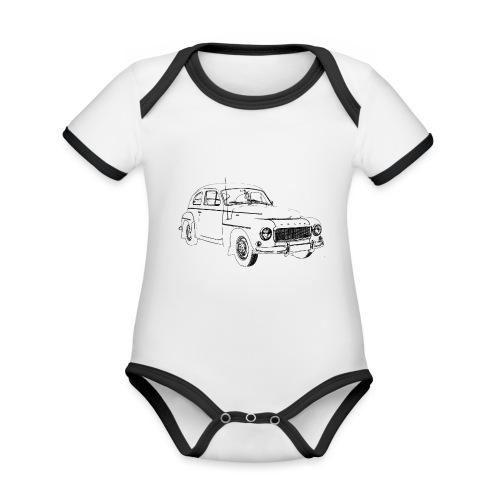 PV544 - Organic Baby Contrasting Bodysuit