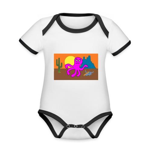 pulpo en el desierto - Body contraste para bebé de tejido orgánico