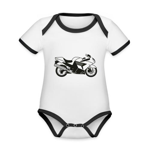 ZZR1400 ZX14 - Organic Baby Contrasting Bodysuit