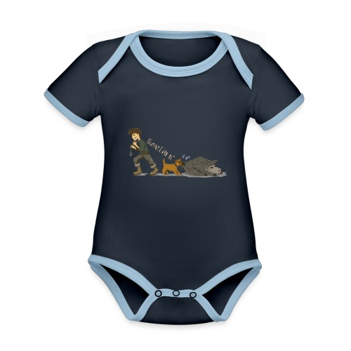 Hundeführer - Baby Bio-Kurzarm-Kontrastbody