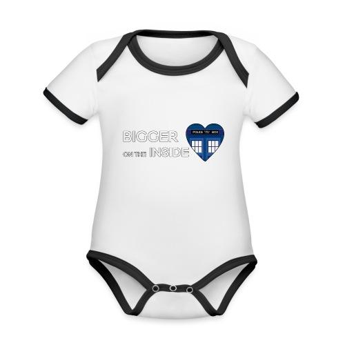 Tardis Heart - Organic Baby Contrasting Bodysuit