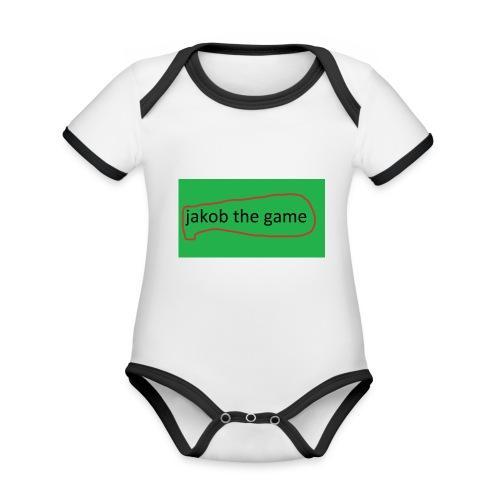jakobthegame - Kortærmet ækologisk babybody i kontrastfarver