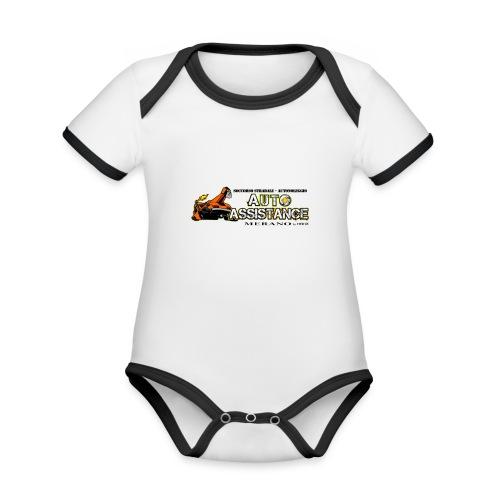 Auto Assistance - Body da neonato a manica corta, ecologico e in contrasto cromatico