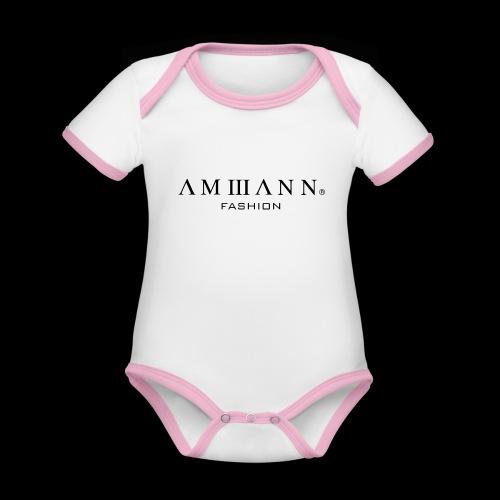 AMMANN Fashion - Baby Bio-Kurzarm-Kontrastbody