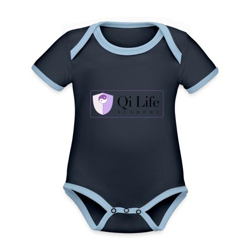 Qi Life Academy Promo Gear - Organic Baby Contrasting Bodysuit