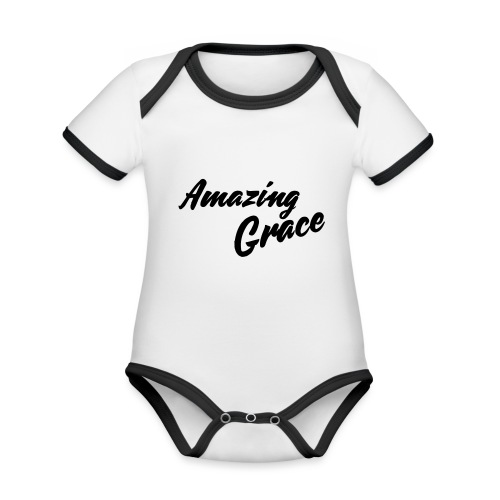 Amazing grace - Body Bébé bio contrasté manches courtes
