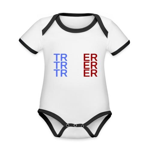 TRADER X3 - Body Bébé bio contrasté manches courtes