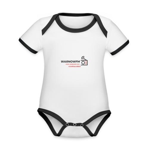 black simple radio outline - Baby Bio-Kurzarm-Kontrastbody