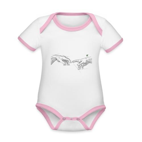 Creazione - Body da neonato a manica corta, ecologico e in contrasto cromatico