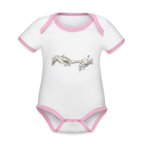 Creazione color - Body da neonato a manica corta, ecologico e in contrasto cromatico