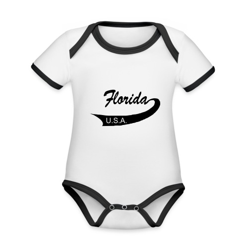 Florida USA - Baby Bio-Kurzarm-Kontrastbody