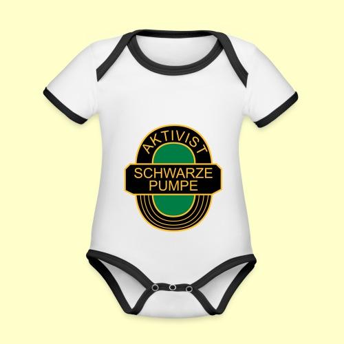 BSG Aktivist Schwarze Pumpe - Baby Bio-Kurzarm-Kontrastbody