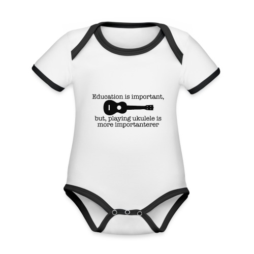 Important Ukulele - Organic Baby Contrasting Bodysuit