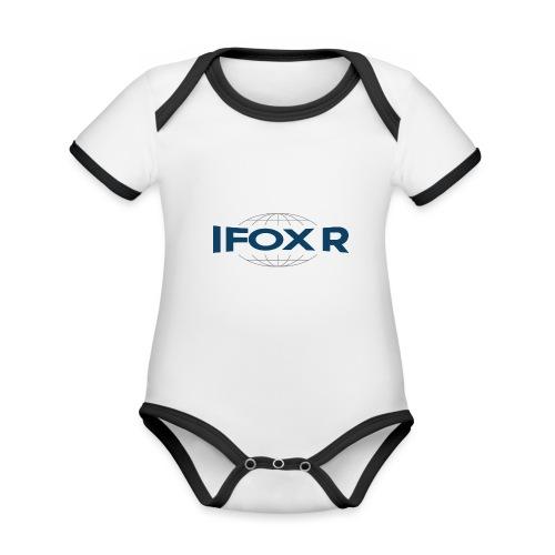 IFOX Logo - Ekologisk kontrastfärgad kortärmad babybody