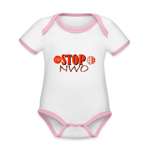 STOPNWO1 - Ekologiczne body niemowlęce z krótkim rękawem i kontrastowymi lamówkami