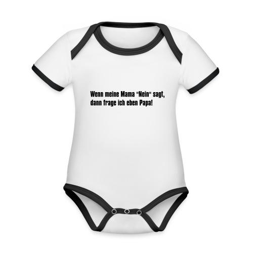 Mama Papa - Baby Bio-Kurzarm-Kontrastbody