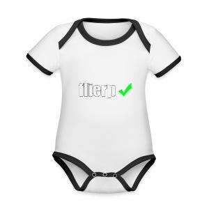 Flierp Vink - Baby contrasterend bio-rompertje met korte mouwen