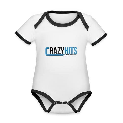 CrazyHIT - Body Bébé bio contrasté manches courtes