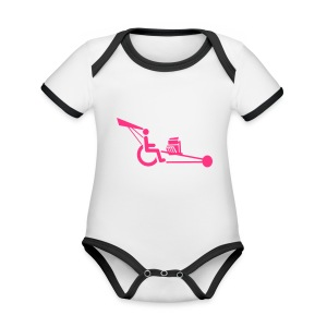 WheelchairV8 - Baby contrasterend bio-rompertje met korte mouwen