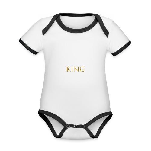 King - Baby Bio-Kurzarm-Kontrastbody