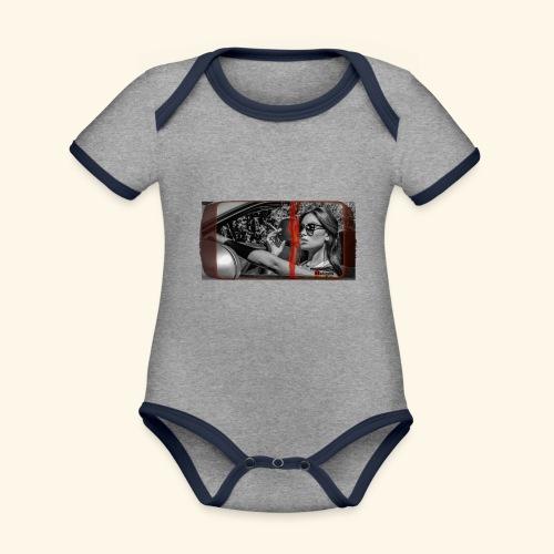 SUNGLASS - Body Bébé bio contrasté manches courtes