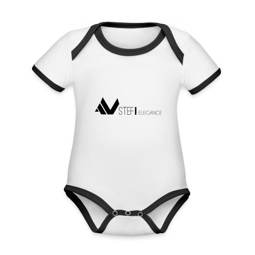 STEFÏ ELEGANCE - Baby Bio-Kurzarm-Kontrastbody