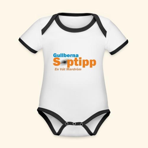 Gullberna Soptipp - Ekologisk kontrastfärgad kortärmad babybody