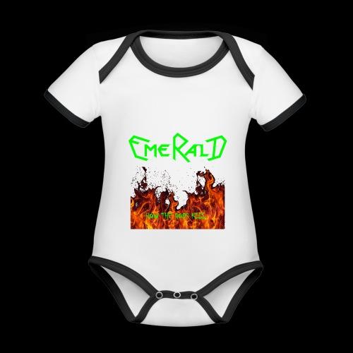 htgkbutton - Baby Bio-Kurzarm-Kontrastbody
