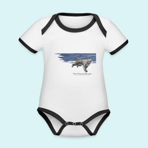Polar-Blues-SpSh - Organic Baby Contrasting Bodysuit