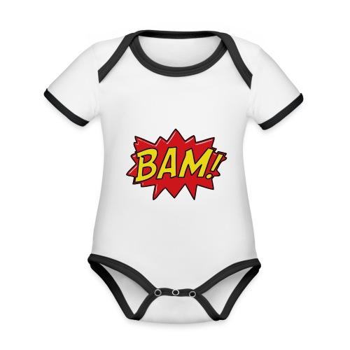 bamtamelijk - Baby contrasterend bio-rompertje met korte mouwen