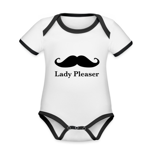 Lady Pleaser T-Shirt in Green - Organic Baby Contrasting Bodysuit