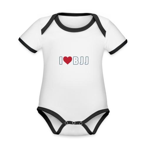 i love bjj - Ekologiczne body niemowlęce z krótkim rękawem i kontrastowymi lamówkami