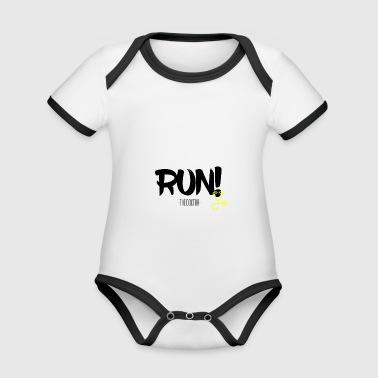 RUN! - Organic Baby Contrasting Bodysuit