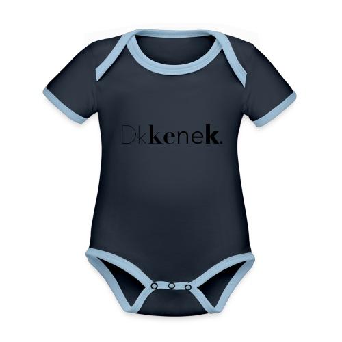 dikkenek - Body Bébé bio contrasté manches courtes