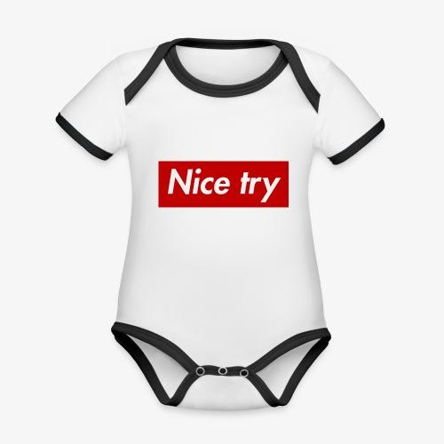 Nice try - Baby Bio-Kurzarm-Kontrastbody