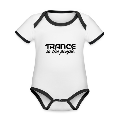 Trance to the People Sort Logo - Kortærmet økologisk babybody i kontrastfarver