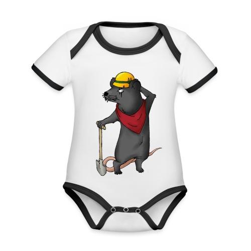 Arbeiter Ratte - Baby Bio-Kurzarm-Kontrastbody