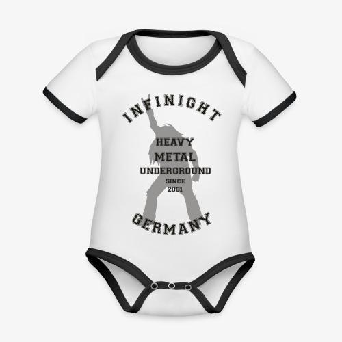 Infinight College headbanger dark - Baby Bio-Kurzarm-Kontrastbody