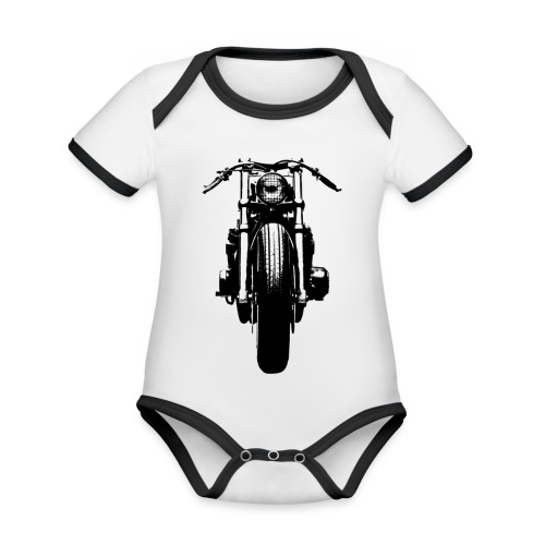 Motorcycle Front - Organic Baby Contrasting Bodysuit