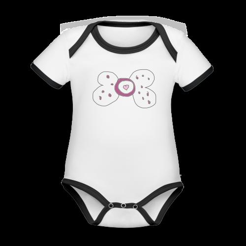 Baby Nuk Collection - Økologisk kortermet kontrast-babybody