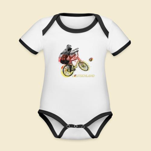 Radball   Deutschland - Baby Bio-Kurzarm-Kontrastbody